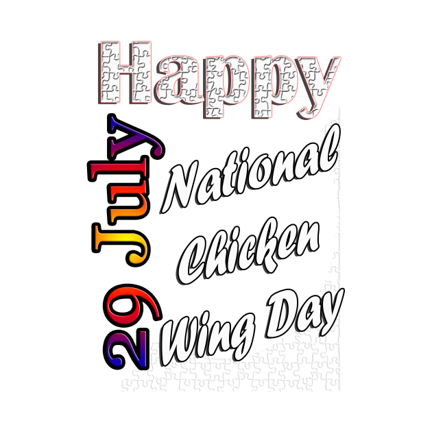 July 29th,National chicken wing day, custom gift design