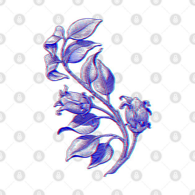 Vintage Floral 3D Style Illustration