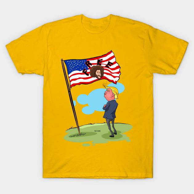 trump us flage with free text freedom t shirt teepublic