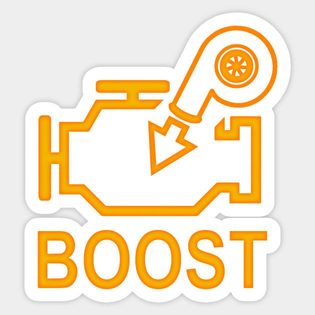 Boost Check Engine Light Turbo Sticker Teepublic