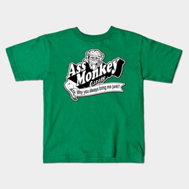 992f30ed3a1 Ass Monkey Garage - Television - Kids T-Shirt