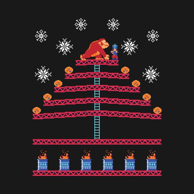 Kongmas Tree - DK Jumpman Ugly Sweater Christmas