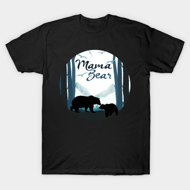 Mama Bear with Baby Cub in the Mountains T-Shirt