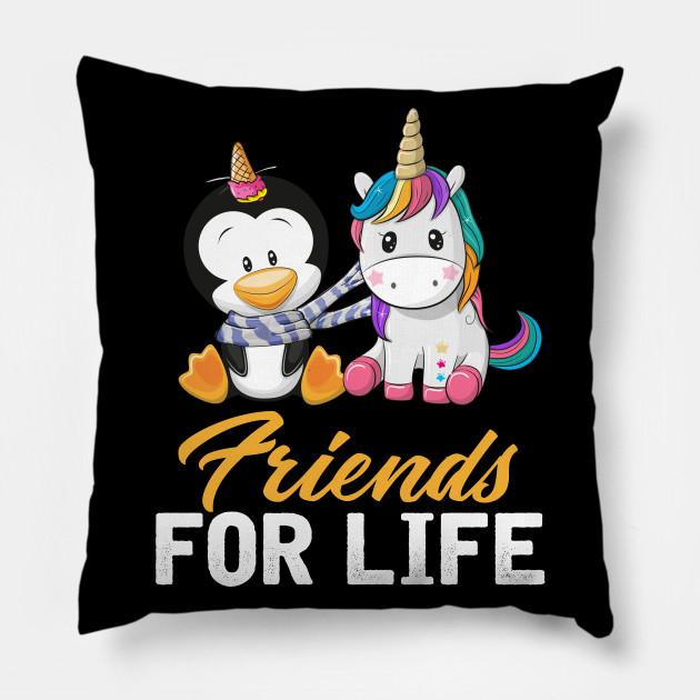 Funny Unicorn Penguin Friendship Tee Friendship Quotes ...