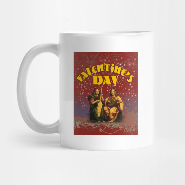 Valentine's Day Unique Vintage Musical Artwork Mug