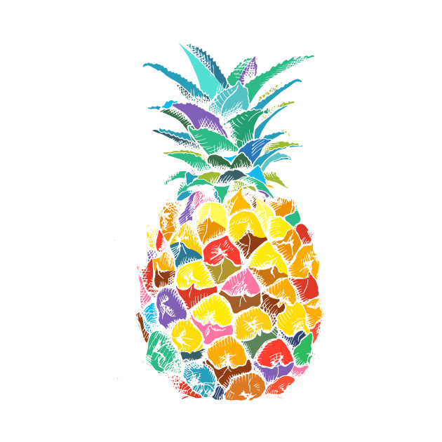 Colorful Pineapple - Pineapple - T-Shirt | TeePublic