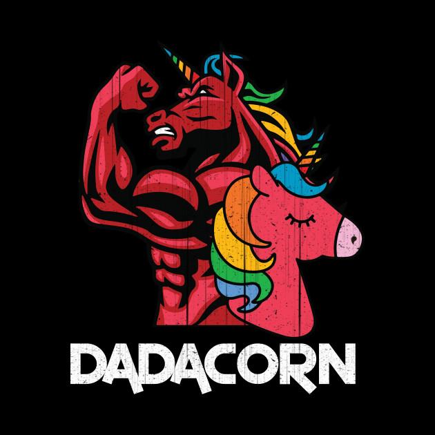 e012f23c9 Dadacorn T Shirt Muscle Unicorn Dad Baby Fathers Day Gift - Dadacorn ...