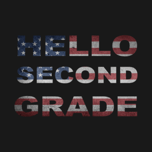 Hello second 2nd grade team teacher stud tee back to school