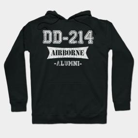 395df87940c DD-214 US AIRBORNE Division Alumni Vintage T-Shirt Hoodie