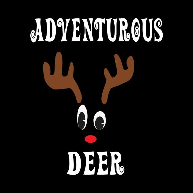 Adventurous Reindeer Deer Red nosed Christmas Deer Hunting Hobbies   Interests