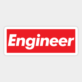 CERTIFIED BAD A$$ ENGINEER STICKER LOT OF 3 WHITE ON RED