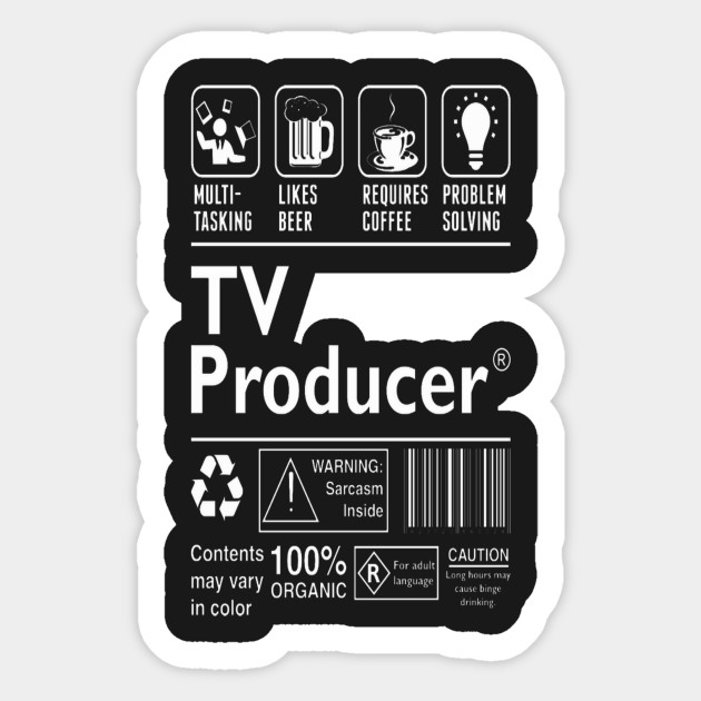 TV Producer Multitasking Beer Coffee Problem T-Shirt