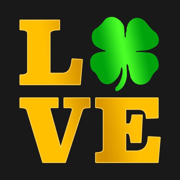 Love Shamrock T Shirt Ireland St Paddy irish Gift Tee