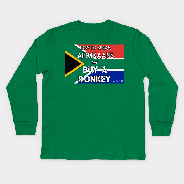 64c1478d217 South African T shirt How to Speak Afrikaans - South African Pride ...