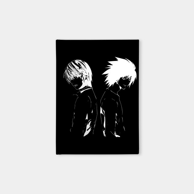 Death Note - Light Yagami and L Lawliet side (white) - shinigami | Anime  and manga lover