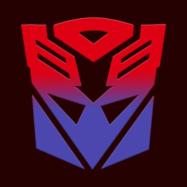 autobot amp decepticon symbol fusion transformers mug