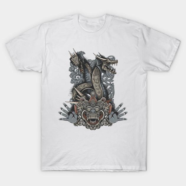 Demon Mask and Dragon