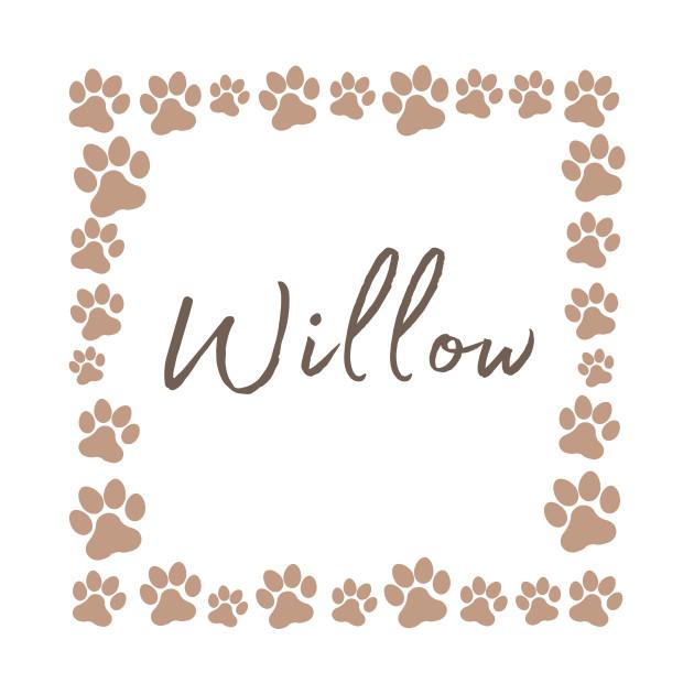 Pet name tag - Willow