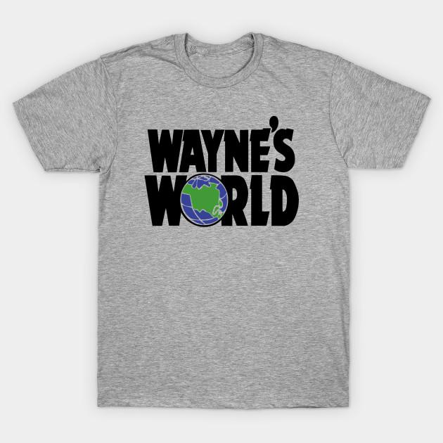 WAYNE/'S WORLD baseball style T SHIRT PARTY ON WAYNE STOCK 90/'s retro TOP