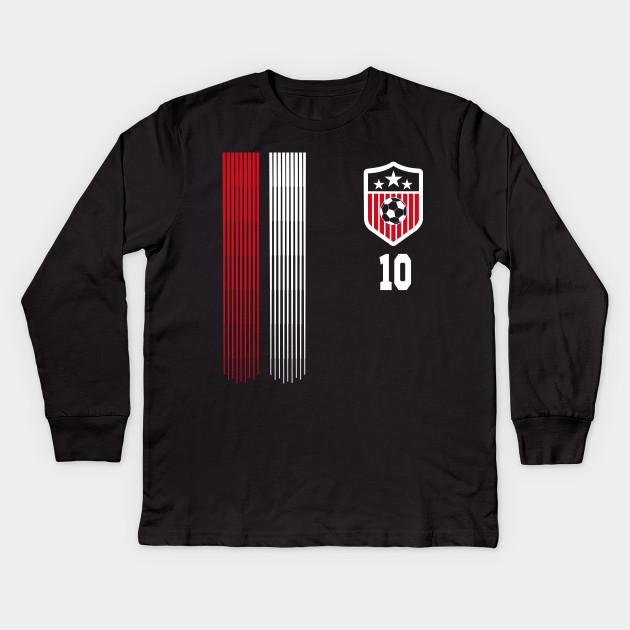 Usa Women Soccer T Shirt 10 Carli Lloyd American Flag Soccer Player