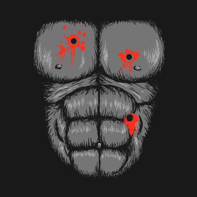 Harambe Halloween Costume T-Shirt - Gunshot Gorilla Chest Tee