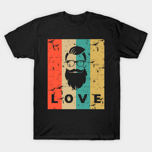 0b59e847 Vintage Retro Beard - Beard - T-Shirt | TeePublic