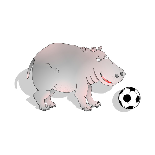 Hippo playing Football