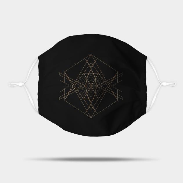 Gold Geometric Glyph Mandala 13
