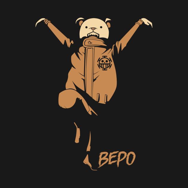 Bepo The heart Pirate One Piece - Trafalino - T-Shirt   TeePublic