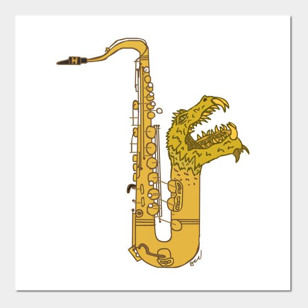 Silurian Saxophone - Sax - Wall Art | TeePublic UK