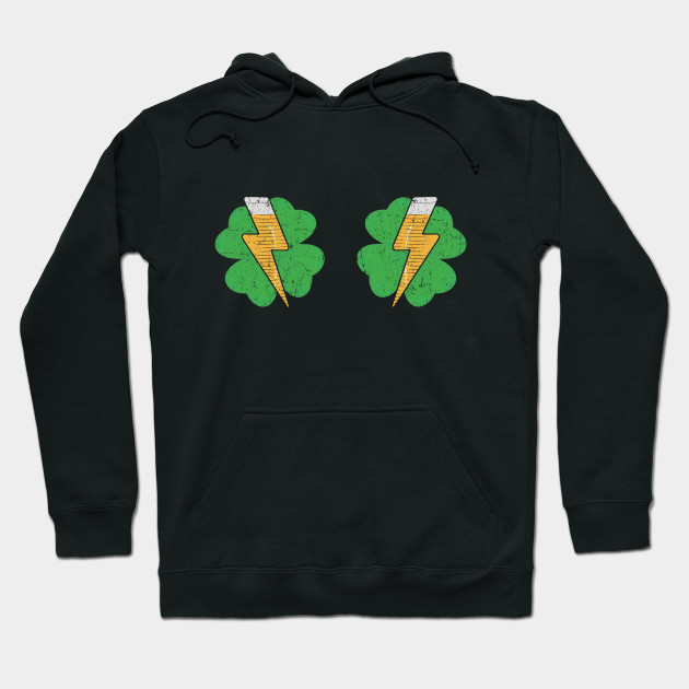 Irish Shamrock Boobs Beer Glass St.Patrick's Paddy Day Hoodie