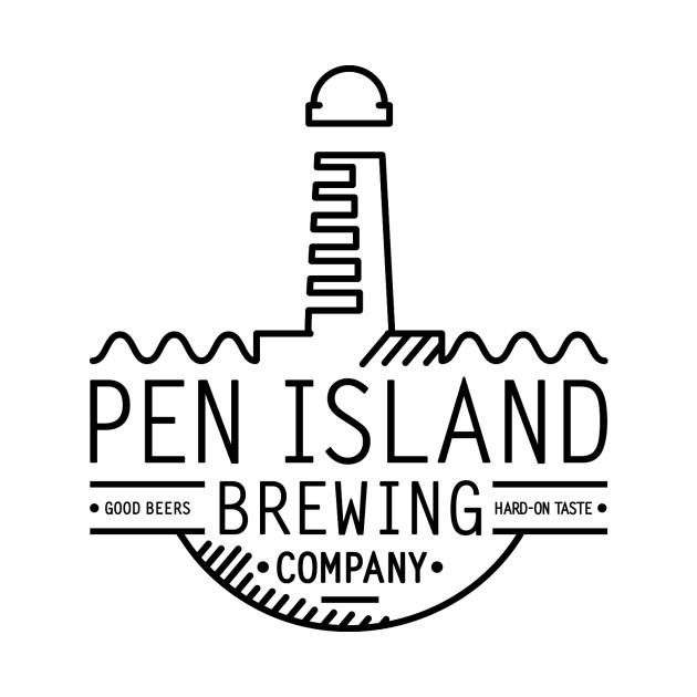 Pen Island Brewing Company Wire Frame Logo