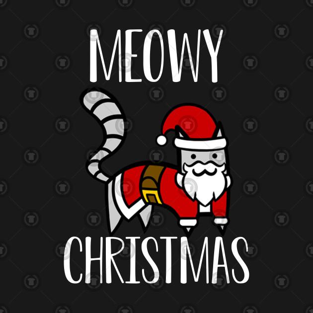 Funny Christmas Tank Tops.Funny Christmas Cat Greeting Merry Christmas Meowy Trending Xmas Funny Christmas