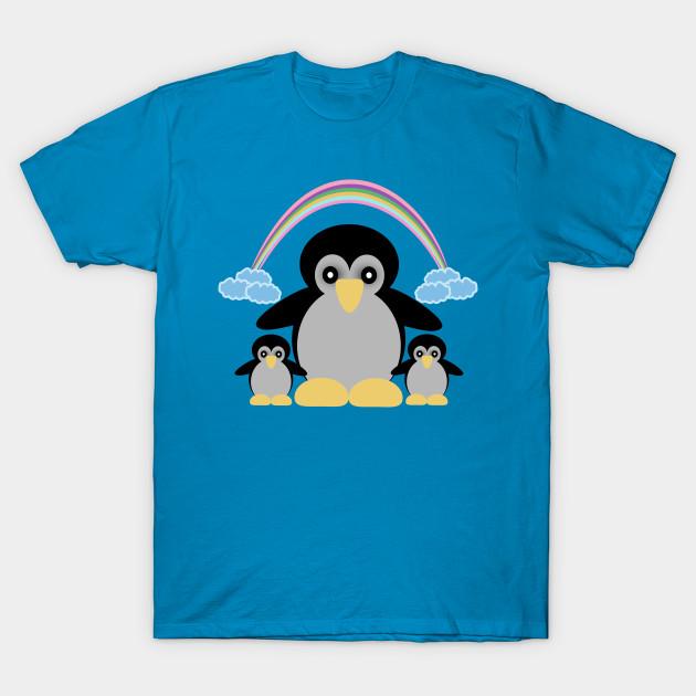 74c7e2c99 Penguin Family - Penguin Family - T-Shirt | TeePublic