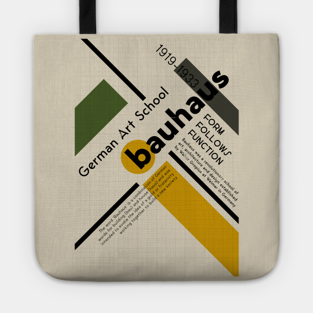 Bauhaus German Art School Retro Vintage Poster Design T-Shirt