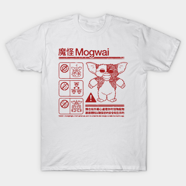 b4a453e8 Mogwai Warning - Parody - T-Shirt | TeePublic