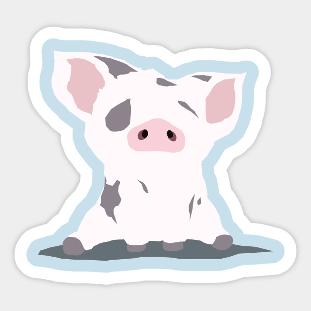 pua the pig moana sticker teepublic
