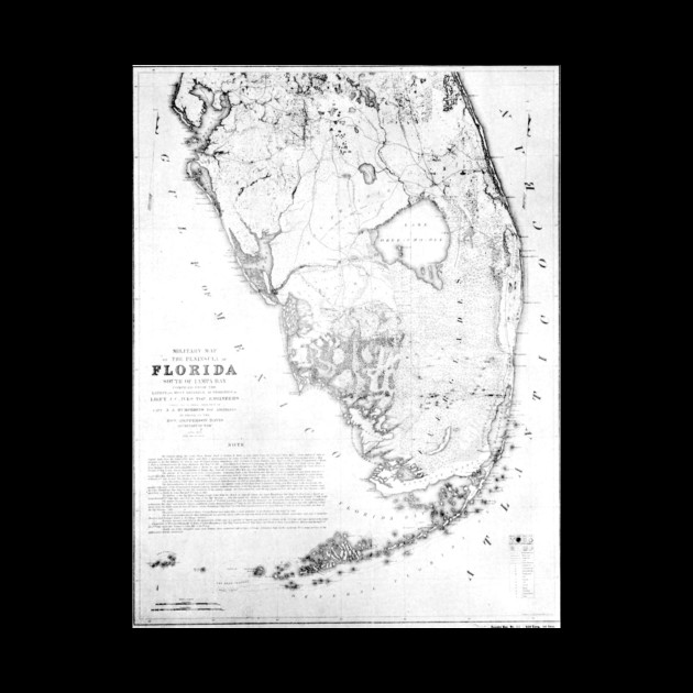 Vintage Map Of Southern Florida 1856 Florida Map Phone Case