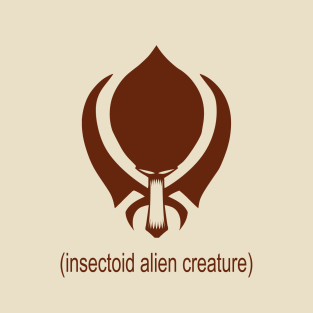 insectoid alien creature t-shirts