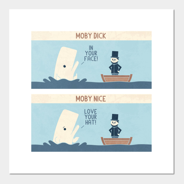 Moby - Moby Dick - Posters and Art Prints | TeePublic