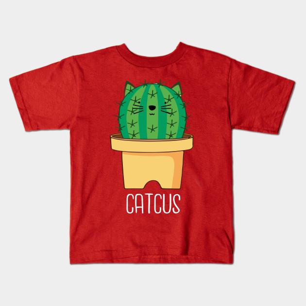 904fe5da CATCUS – Funny Cat Shirt Cactus Pun - Funny Cat Design - Kids T ...