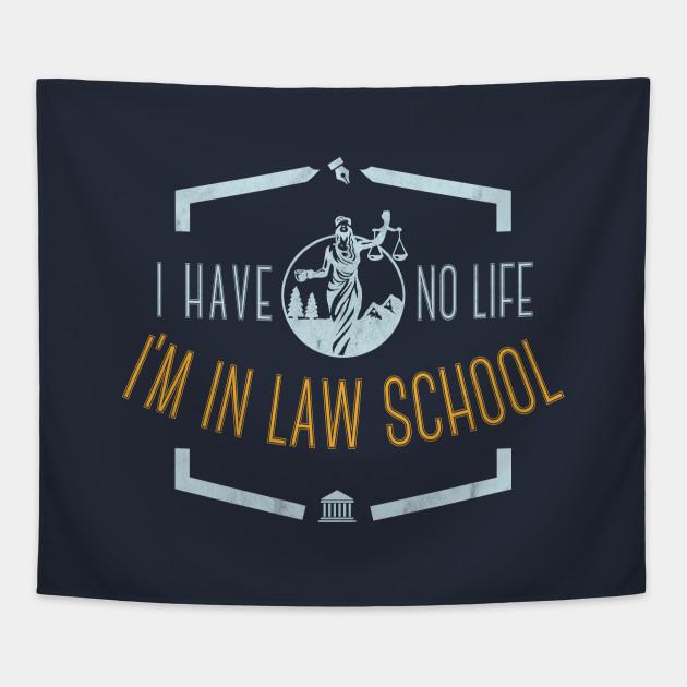 law school graduation gift future lawyer tee shirt Tapestry