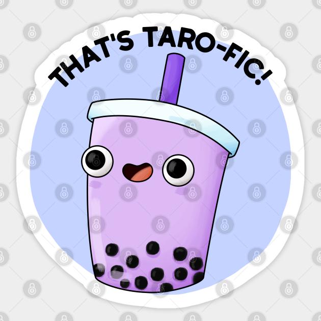 Taro Boba Sticker