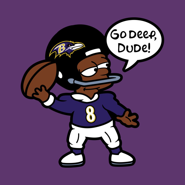 Baltimore Ravens Bart Simpson