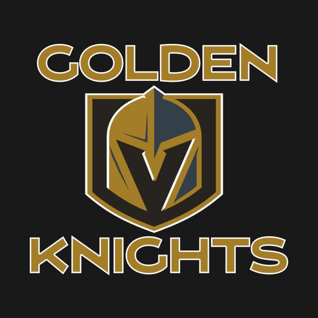A Golden Vegas Sports Shirt Knight Emblem Tshirt