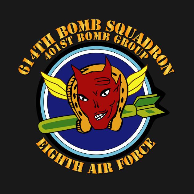 614th  BS - 401st BG - 8th AF w Txt