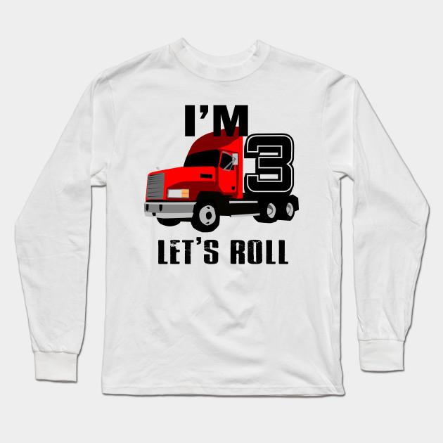 Kids Monster Truck Birthday 3rd T Shirt Boy 3 Year Old Long Sleeve