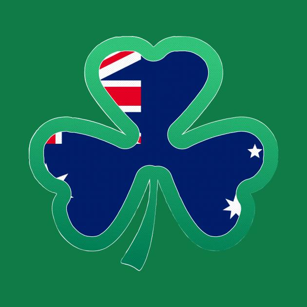 Australian Flag for st patricks day, Irish Shamrock