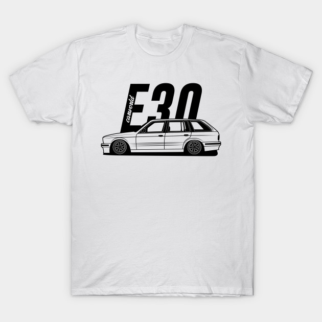 BMW E30 Touring Side Best Shirt Design