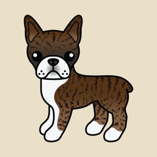 57280ea9b Brindle Boston Terrier Dog Cute Cartoon Illustration T-Shirt